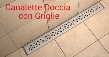 canalette doccia a filo pavimento