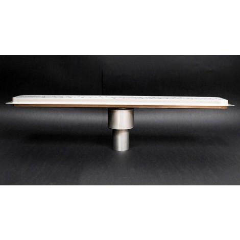 Canalina doccia con inserto piastrellabile scarico verticale 1100mm