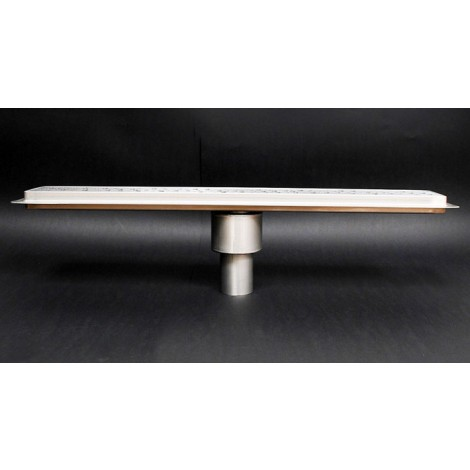 Canalina doccia con inserto piastrellabile scarico verticale 500mm