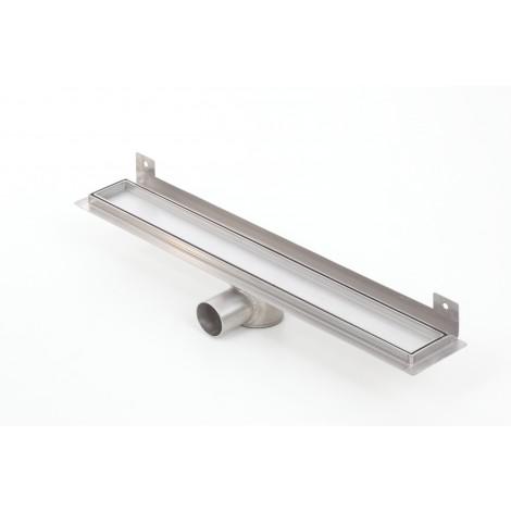 Canalina doccia con inserto piastrellabile flangia piegata WALL PREMIUM 1100mm