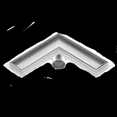 Canalina doccia angolare inserto piastrellabile PREMIUM 600mm