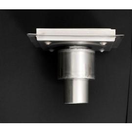 Piletta doccia con inserto piastrellabile PREMIUM con Scarico Verticale 200x200mm