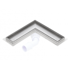 Canalina doccia angolare inserto piastrellabile SILVER 700mm