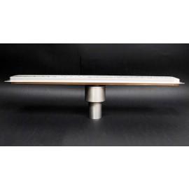Canalina doccia con inserto piastrellabile scarico verticale 600mm