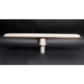 Canalina doccia con inserto piastrellabile scarico verticale 700mm