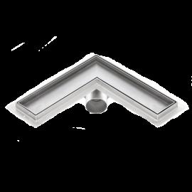 Canalina doccia angolare inserto piastrellabile PREMIUM 1000mm