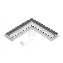 Canalina doccia angolare inserto piastrellabile SILVER 600mm